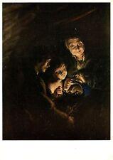 Alte Kunstpostkarte - Peter Paul Rubens - Die Alte mit dem Kohlenbecken