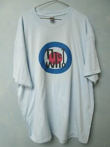 THE WHO ROCK AND ROLL VINTAGE LIKE RETRO BLUE MEN T SHIRT XXXLARGE