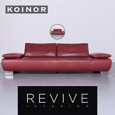 Koinor Volare Designer Leder Sofa Rot Echtleder Couch Funktion #6400