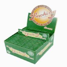 1 Box SMOKING papers Hanf GRÜN (50 x 33) Smoke  Blättchen, Neu und Ovp