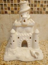 Partylite Sand Castle Tealight Candle Holder White Bisque Porcelain Retired