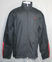 NWT Nike Black/Red Full Zip Windbreaker Track Jacket Men's Size 2XL 158736   NEW