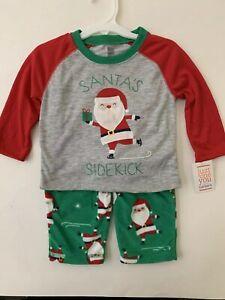 NEW Carters Just One You Baby Boy 2 Piece Pajama Set Christmas Santa 18m