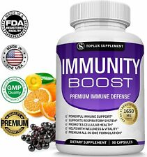 Immune System Booster - Includes Vitamin C - Zinc & Elderberry for Full Support