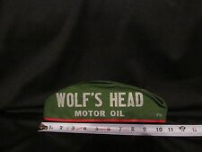 Vintage Wolf's Head Motor Oil and Lubes Gas Station Attendant Hat Size 7 1/8
