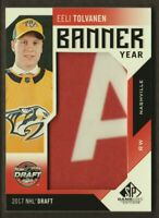2018-19 SP Game Used Banner Year Draft '17 #BD17-ET Eeli Tolvanen Predators