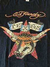 Schwarzes Ed Hardy T-Shirt mit Nieten, Gr. L, neu