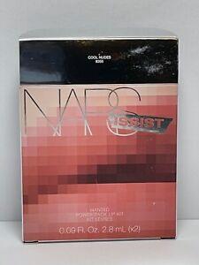 NARS ISSIST WANTED POWER PACK LIP KIT # 8355 COOL NUDES 0.09 OZ. X2 BNIB