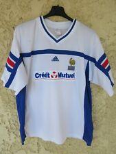 Maillot porté n°2 équipe de FRANCE roller HOCKEY FFRS ADIDAS vintage shirt L