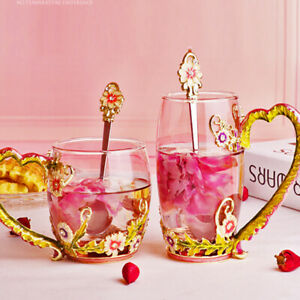 Home Coffee Mug Daisy Water Cup Tea Cup Glass Cup Fashion Water Cup Beauty Lid