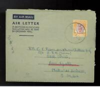 1954 Tapah Malaya Air Letter Cover to India