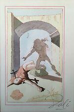 Salvador Dali Raro Color Litografía Firmado A Mano Original