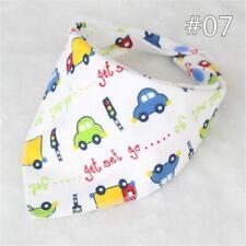 Baby Bibs Kids Cotton Head Scarf Towel Boy Girl Dribble Feeding Saliva Bandana