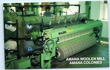 Amana Woolen Mill Amana Colonies Sulzer Weaving Machine Iowa Postcard A81