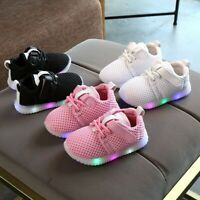 Children Boys Girls Sports School Trainers Kids Baby Mesh Sneakers Running Shoes