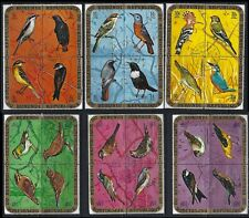 BURUNDI 1970 BIRDS 6 AIRMAIL BLOCKS OF 4 Sc#C132-7 COMPLETE VFU SET 0307