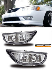 2001 2002 Toyota Corolla Fog Lights Clear Lens Front Driving Lamps PAIR