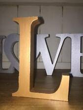 Any 3 Metallic Copper Wooden Letters, 13cm Large Letters, Numbers, & Sign