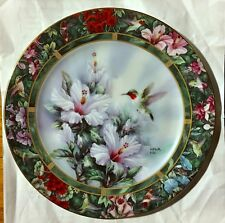 "Lena Liu ""The Ruby-throated Hummingbird"" Plate"