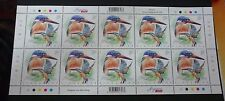 Singapore Kingfishers Blue-Eared 70c stamp stamps Mint sheet 2017