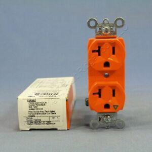P&S Orange Isolated Ground Duplex Outlet Receptacle NEMA 5-20R 20A 125V IG5362