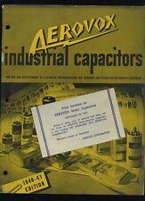 1940-41  Aerovox Radio & Electric Products Catalog Manual