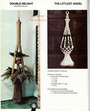 New listing Macrame Portraits Book 2~Pattern Book~Creative Single/Dougle Plant Hangers~Table