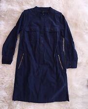 Nwt JCREW Utility Dress Navy Long Sleeve Sz 4 F4359 NEW