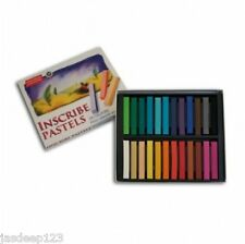 Inscribe Artists Soft Pastels 24 Half Stick Box Set Assorted Colours Art Set