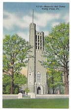 VF63 Memorial Bell Tower Valley Forge RP Postcard Unposted Colortone