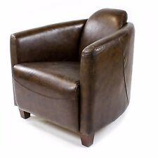 Vintage Ledersessel Braun Echtleder Retro Sessel Design Lounge Clubsessel  443