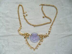 Vtg Kirks Folly amethyst Dream Angel necklace