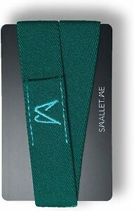 Super Slim Minimalist Front Pocket Elastic Wallet Band RFID Blocking Green