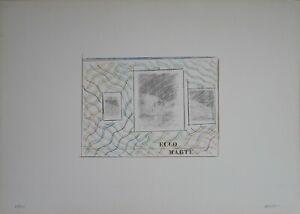 Franco Angeli serigrafgia Ecco Marte 70x50 firmata numerata Artestudio Macerata