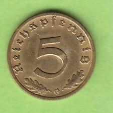5 Reichspfennig mit HK 1936 G fast vz seltenster Jahrgang nswleipzig