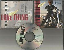 Tina Turner Love Thing  PROMO Radio DJ CD Single 1991 USA DPRO 79947