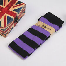 US Women Girl Sheer Striped Thigh High Stockings Plus Size Over The Knee Socks