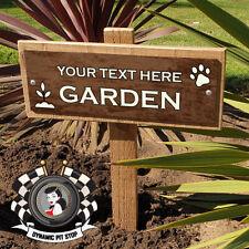 Custom Garden Stake Sign: Rustic Paw, Gardening, Personalised, Plant, Pet, RIP