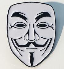 Anonymous Guy Fawkes Mask Enamel Lapel Pin