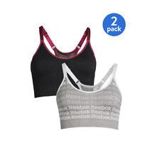 Reebok Women's Size Medium 2-Pack Medium Impact Seamless Sports Bras