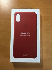 Brand New Genuine Apple iPhone Xs Leather Case Product Red
