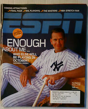 ESPN MAGAZINE APRIL 12 2004 ALEX RODRIGUEZ NY YANKEES MLB BASEBALL