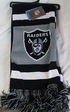 """NWT NFL 2012 TEAM STRIPE ACRYLIC SCARF 64""""x7"""" - OAKLAND RAIDERS"""