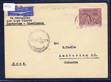 46712) KLM FF Amsterdam - Casablanca 5.11.60, Brief (R!) ab Polen R!