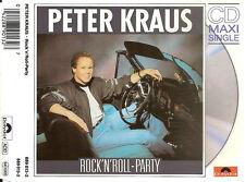 PETER KRAUS - rock'n'roll-party CDM 3TR GERMANY  1989 RARE!!