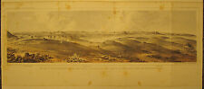 ANTIQUE PRE CIVIL WAR LITHOGRAPH WAGON TRAIN HUNTER DEER BLACKFOOT PASS NOW MT