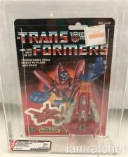 Transformers Original G1 AFA 70 Minibot Powerglide White Border MOSC 70/70/85