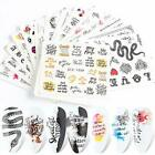 Nail Art Stickers Set Water Decals Nail Supplies Decoration Slider Foil Tattoo