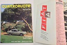 QUATTRORUOTE FEBBRAIO 1969 - PROVA LANCIA FLAVIA 1.8 LX