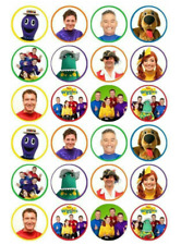 24 x Large The Wiggles Edible Cupcake Toppers Birthday Party Cake Decoration